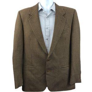 VALENTINO • Houndstooth Virgin Wool Vintage Blazer